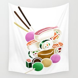 Sushi and Sweets - Inside Wall Tapestry