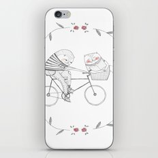 bicycle cat iPhone & iPod Skin