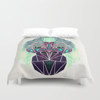 gorilla Duvet Covers featuring gorilla by Manoou