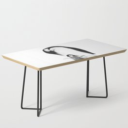 Black and White Penguins Coffee Table