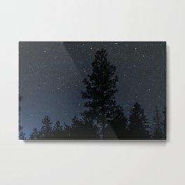 Blue Night Sky Photography Print Metal Print