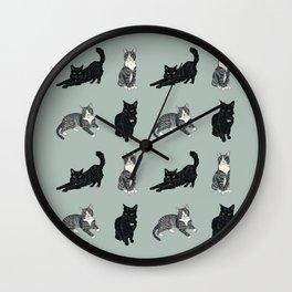 Gus and Winnie Green Wall Clock