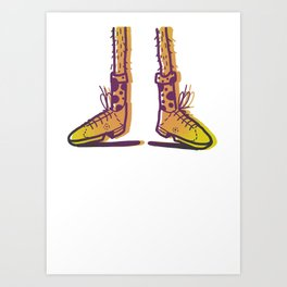 New Shoes! Forgot Trousers. Art Print