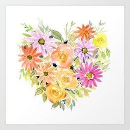Floral Heart 1 Art Print