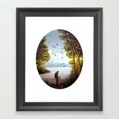The Sky Was Dancing Framed Art Print