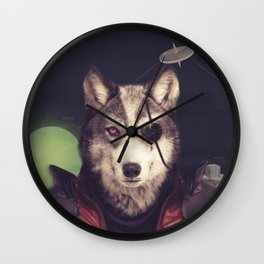 Star Team - Wolf Wall Clock