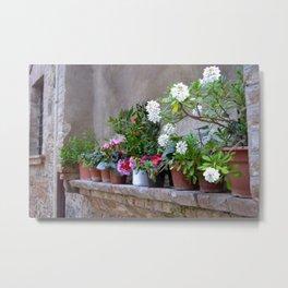 Tuscan Garden Metal Print