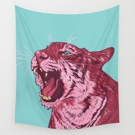 Magenta tiger Wall Tapestry