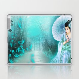 Geisha In Teal Laptop & iPad Skin