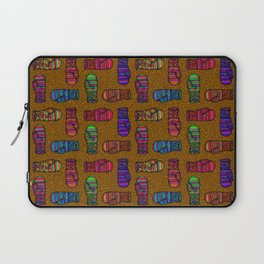 COLORFUL MITTENS ON MUSTARD YELLOW Laptop Sleeve