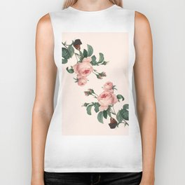 Butterflies in the Rose Garden Biker Tank