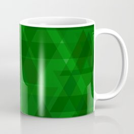 Bright green triangles in intersection and overlay. Coffee Mug