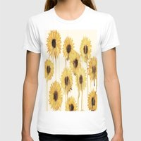 sunflowers T-shirts featuring Sunflowers by mama wolf spider