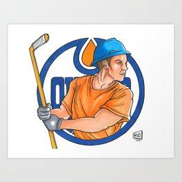 Oilers Logo redesigned. Art Print