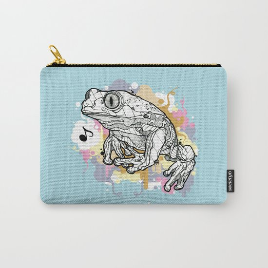 Melodic Frog Carry-All Pouch