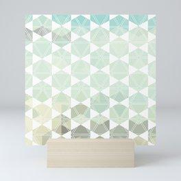 Geometric Sand & Sea Mini Art Print