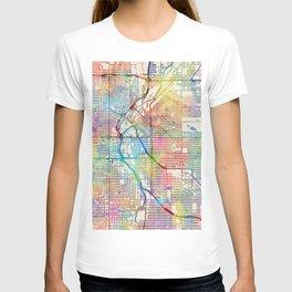 Denver Colorado Street Map T-shirt