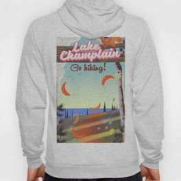 Lake Champlain Travel poster Hoody