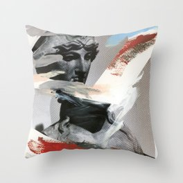 Untitled (Painted Composition 4) Throw Pillow