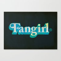 fangirl Canvas Prints featuring Fangirl by Aaron Synaptyx Fimister
