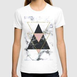 Geo glam marble T-shirt