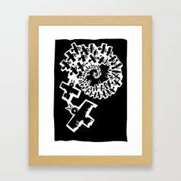 Crows in Spiral Flight Framed Art Print