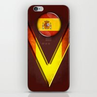 spain iPhone & iPod Skins featuring Spain by ilustrarte