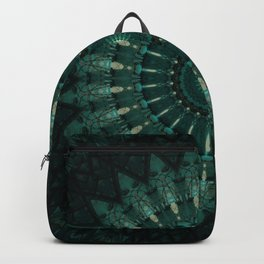 Malachite green mandala Backpack