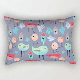 Birdie Pattern Rectangular Pillow