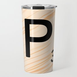 Scrabble Letter P - Large Scrabble Tiles Travel Mug