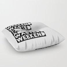 A Weekend Water (Black) Floor Pillow