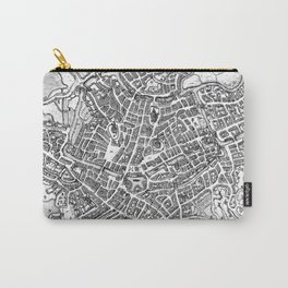 Vintage Map of Ghent Belgium (1650) BW Carry-All Pouch