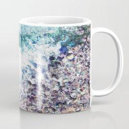 Waves lap at the shore - painting - art gift - abstract Coffee Mug