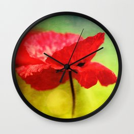 Adorable Poppies... Wall Clock