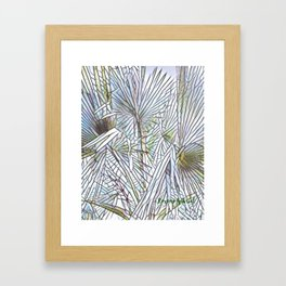 Abstract Palm, Palm Tree Design, White colorful palm, Framed Art Print