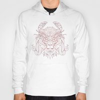crab Hoodies featuring Lion Crab by Mike Koubou