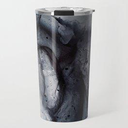 Smoke Diptych II - Alcohol Ink Painting Travel Mug