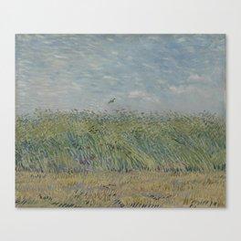 Wheatfield with Partridge Canvas Print