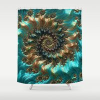 supreme Shower Curtains featuring Aqua Supreme by Steve Purnell