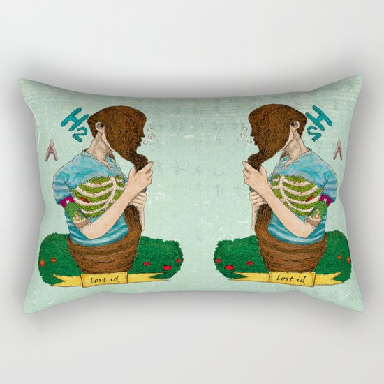 Lost identity Rectangular Pillow