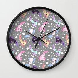 cute axolotl pattern Wall Clock