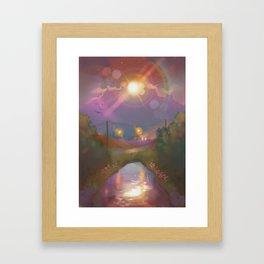 moon sunset Framed Art Print
