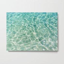 Clear Ocean Water Metal Print