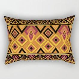 Yellow plaid. The creative pattern . Rectangular Pillow