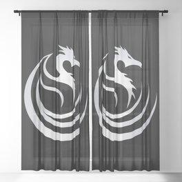 Tribal Dragon Sheer Curtain
