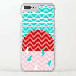 Hello Ocean Summer Dreams Clear iPhone Case