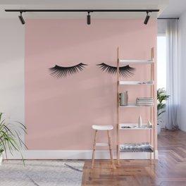 pink eyelashes Wall Mural