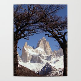Fitz Roy Mountain Landscape (Patagonia, South America) Poster