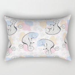 CIRCUS BEAR COLORFUL Rectangular Pillow