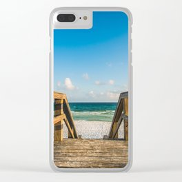 Head to the Beach - Boardwalk Leads to Summer Fun in Florida Clear iPhone Case